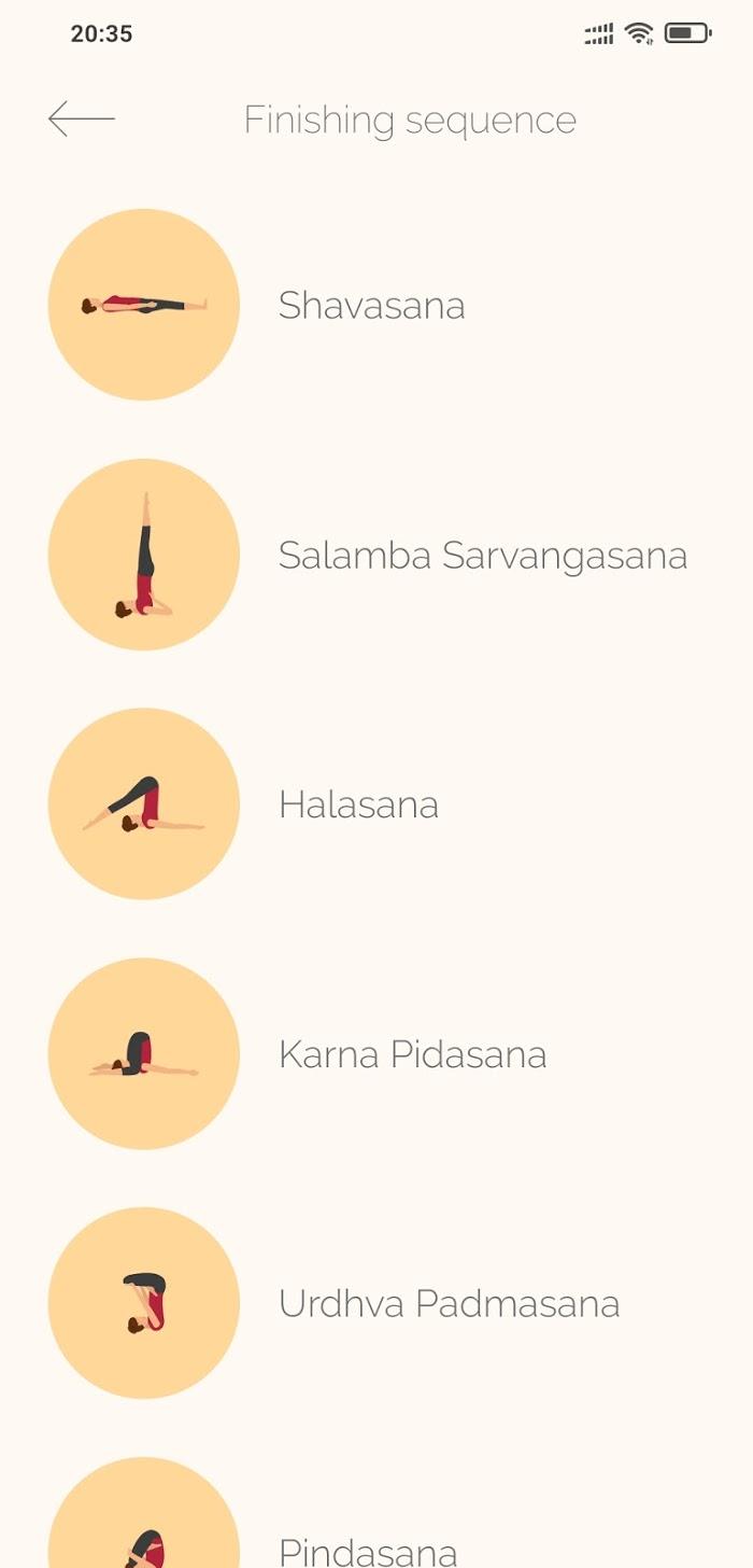 Ashtanga Yoga - app screenshot