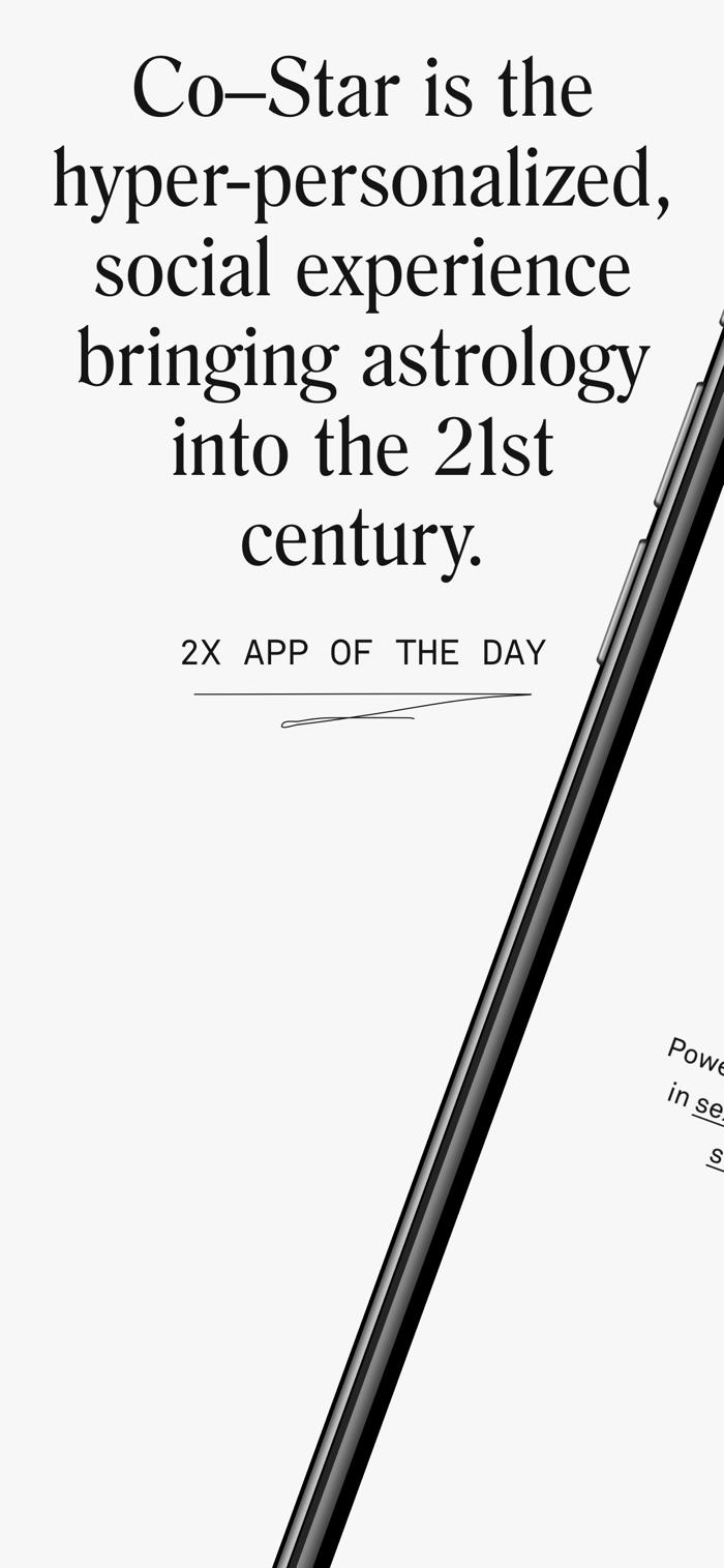 Co–Star - app screenshot