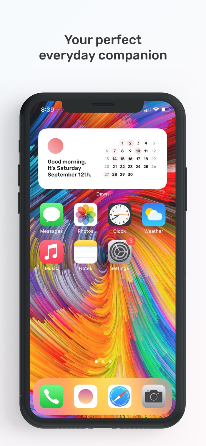 Dawn - app screenshot