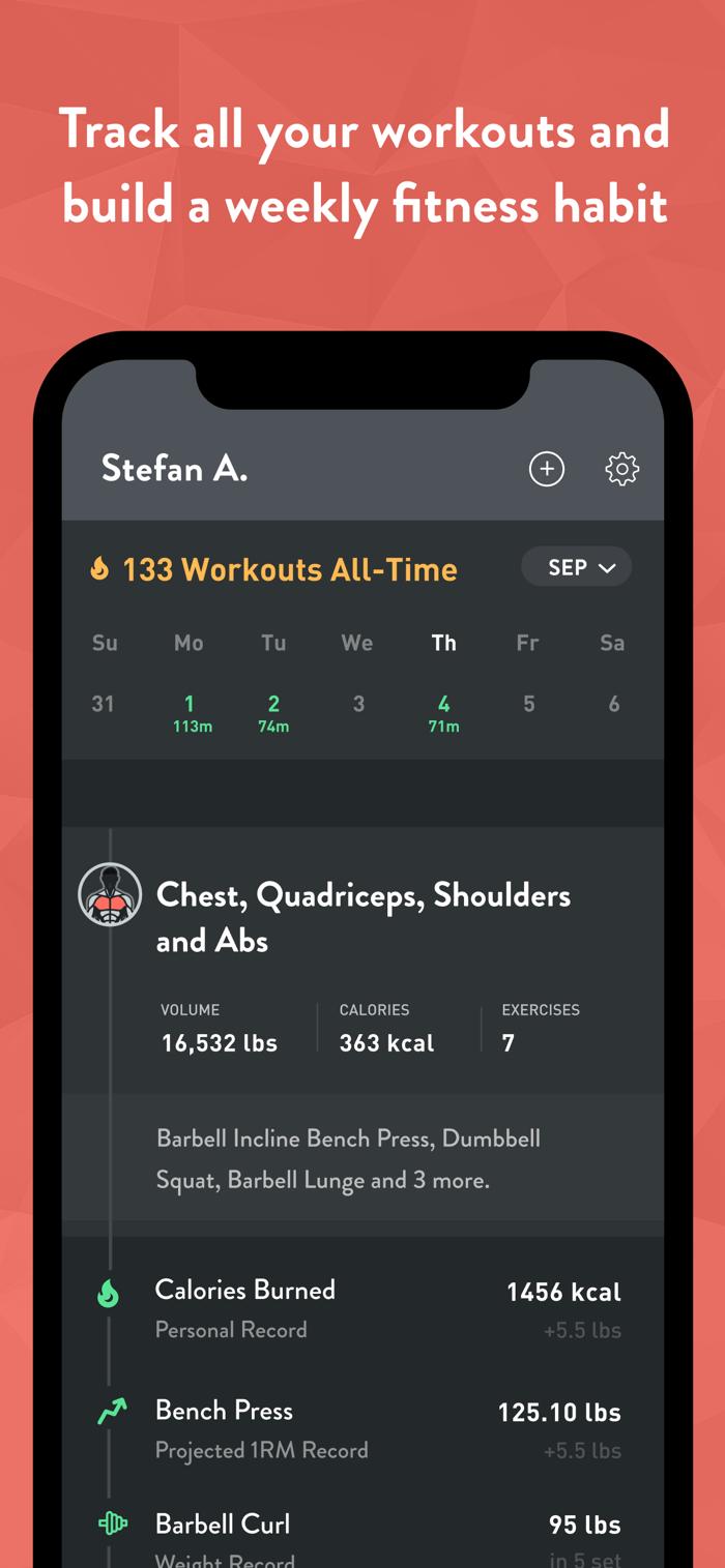 Fitbod - app screenshot