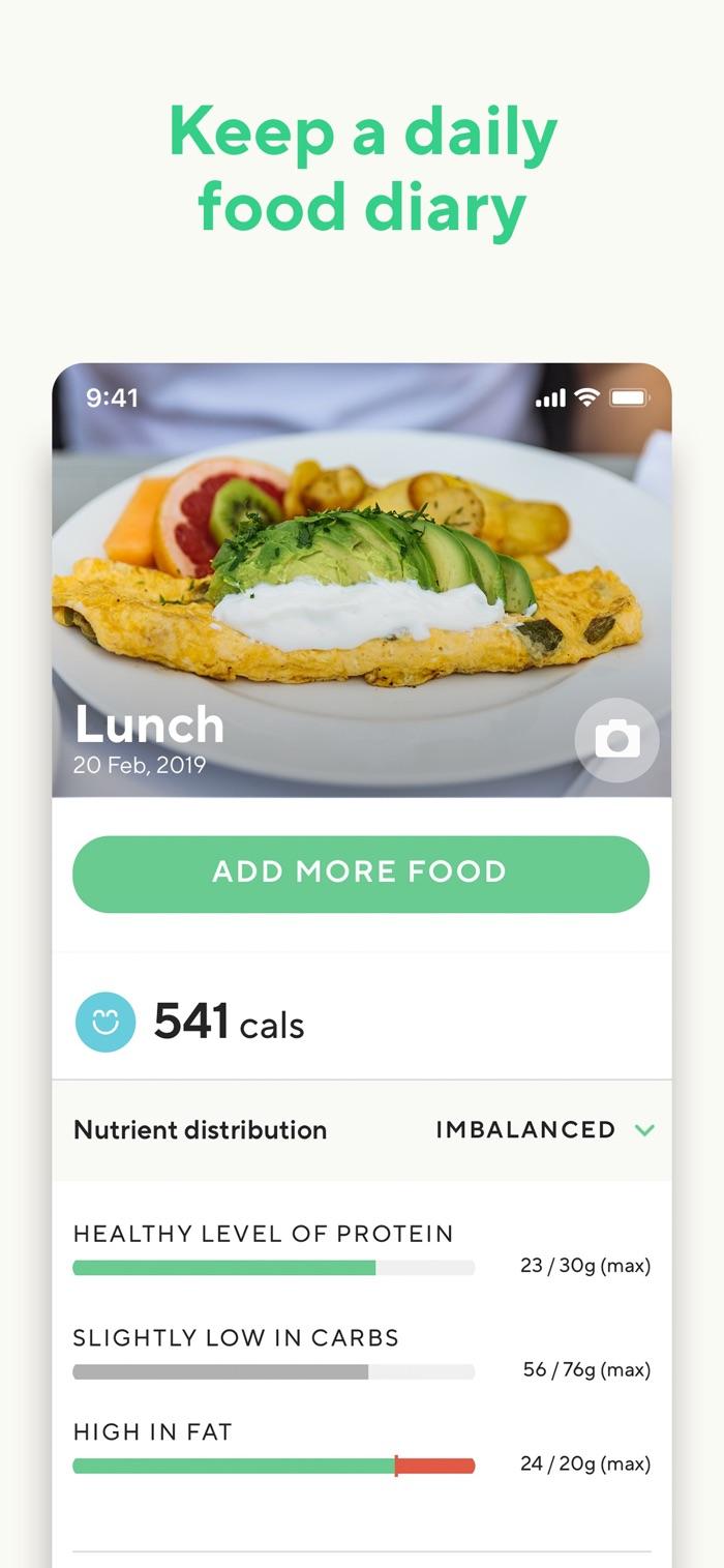 Lifesum - app screenshot