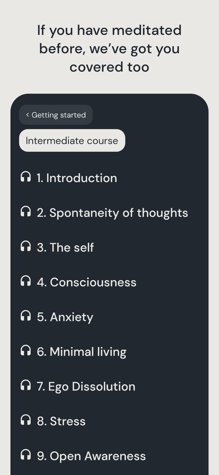 Medito - app screenshot
