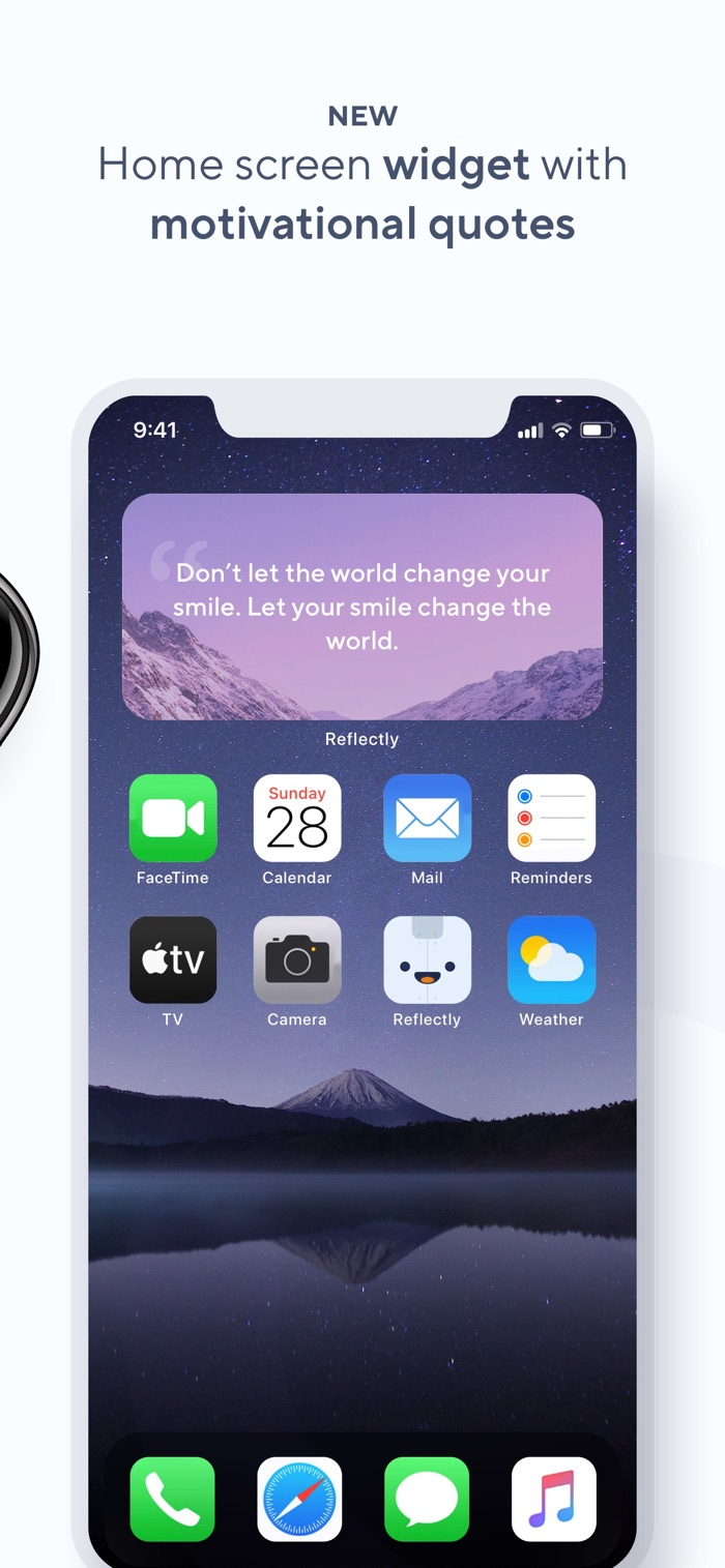 Reflectly - app screenshot