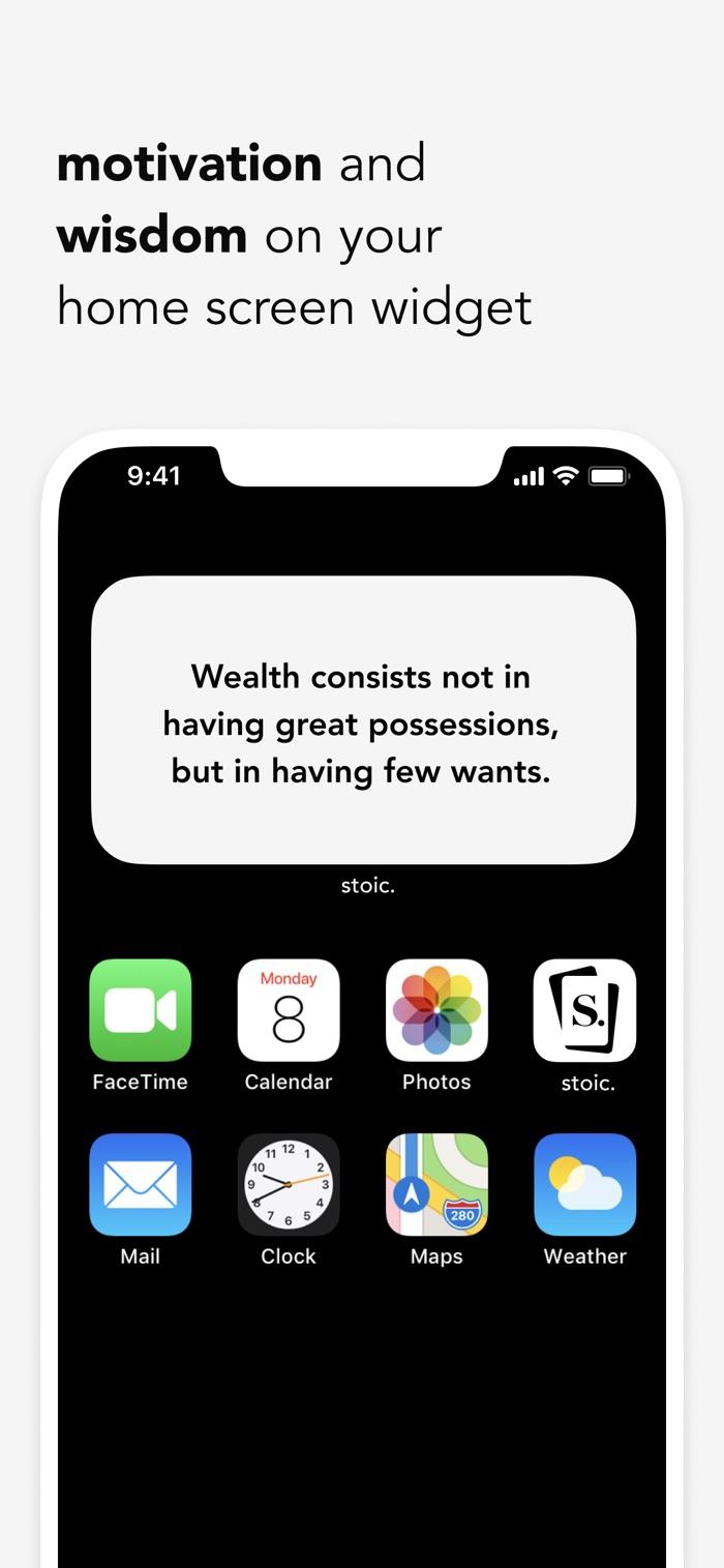 stoic. - app screenshot